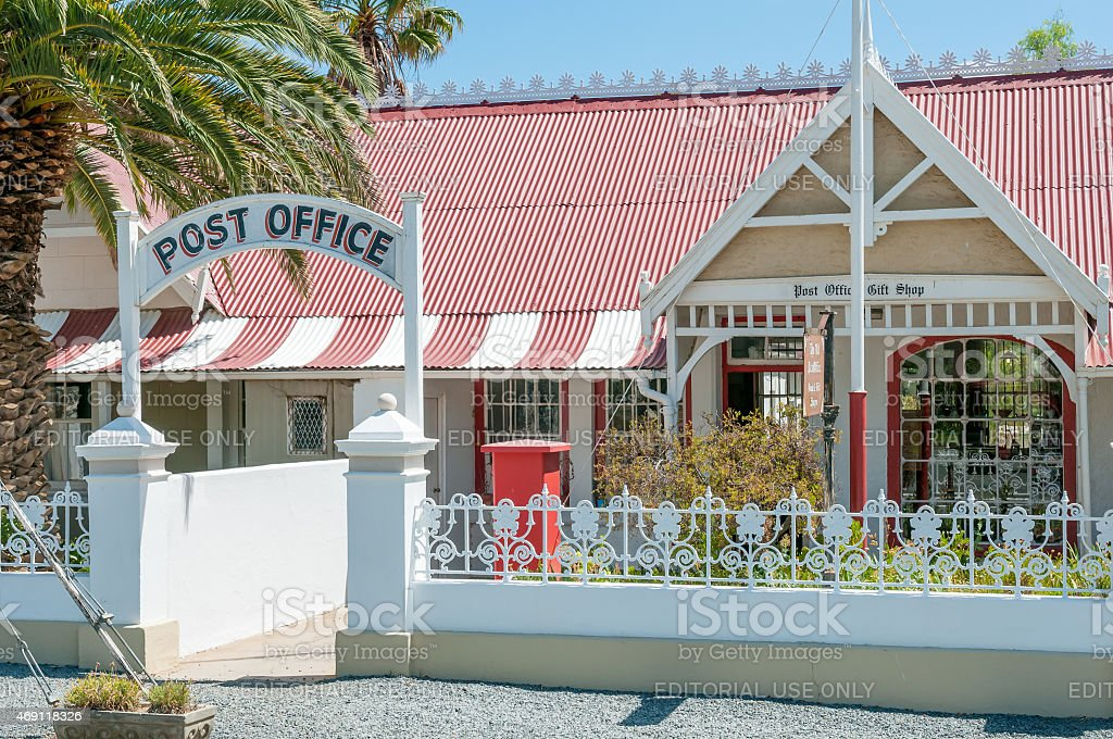 Historic Post Office building in Matjiesfontein stock photo