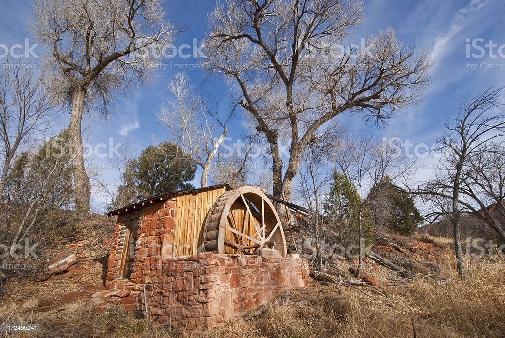 Historic Power Generating Water Wheel stock photo