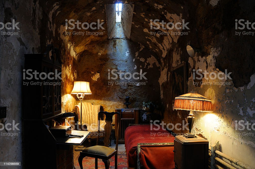 Historic Prison Cell of Al Capone stock photo