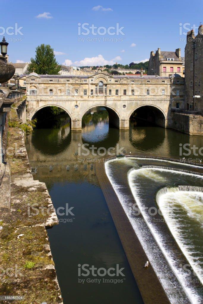 Historic Pulteney Bridge over the River Avon, Bath, UK stock photo