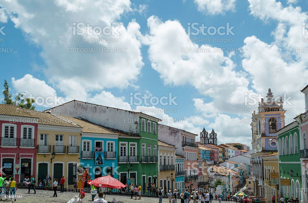 historic quarter pelourinho of salvador da bahia stock photo