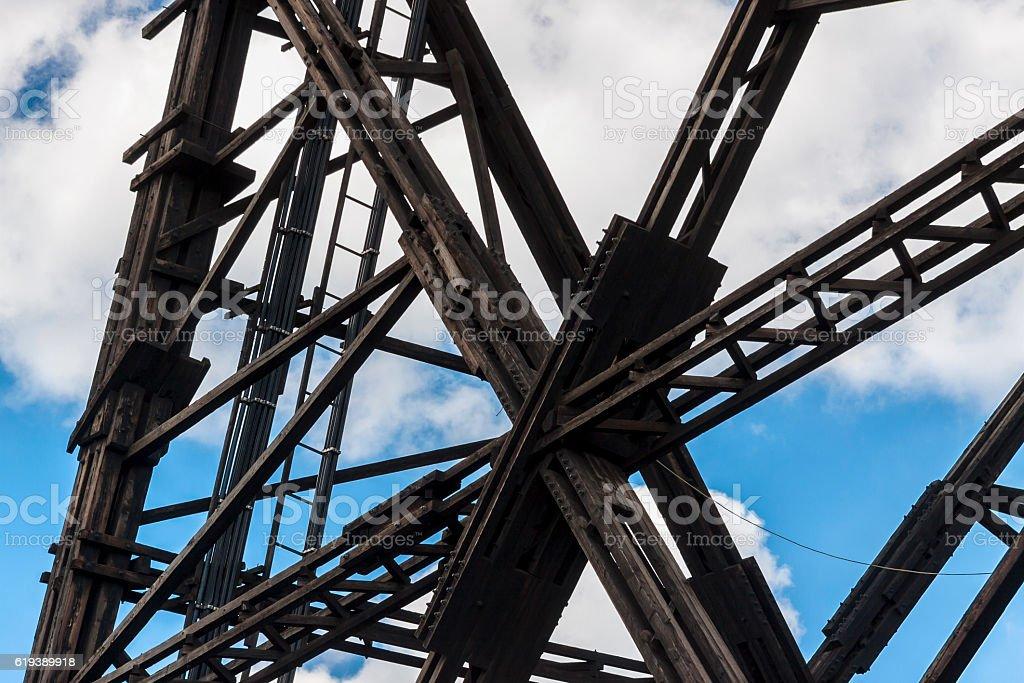 Historic radiostation tower in Gliwice, Poland stock photo
