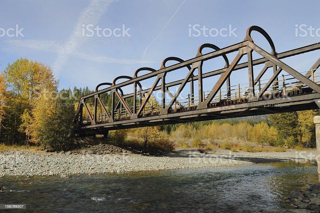 Historic Rail Trestle, Princeton BC stock photo