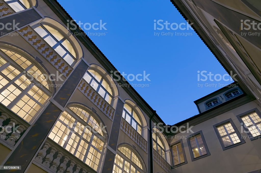 Historic renovated house in the town of Goerlitz, Germany stock photo