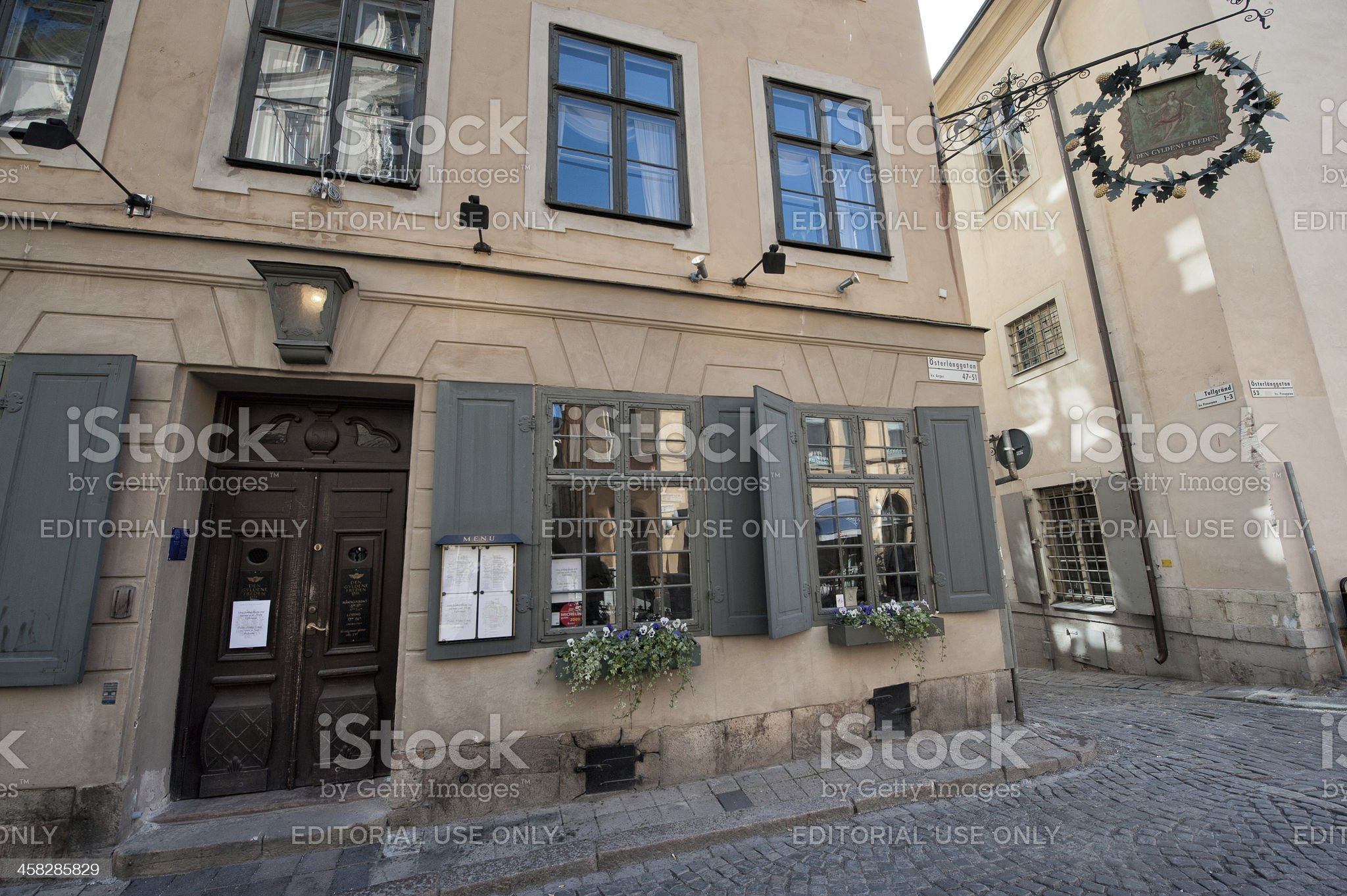 Historic restaurant for Nobel diners royalty-free stock photo