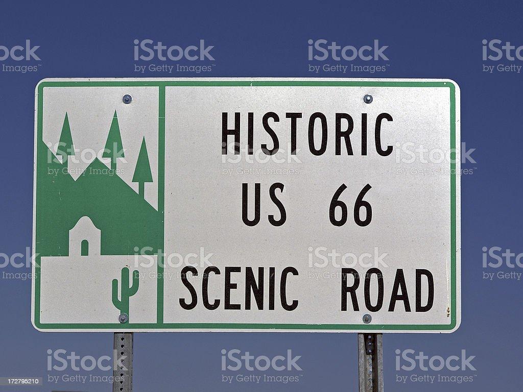 Historic Road Sign royalty-free stock photo
