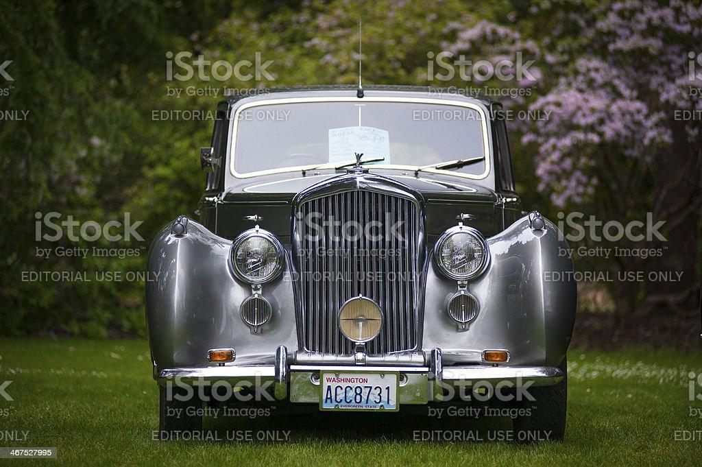 Historic Rolls Royce vehicle on display stock photo