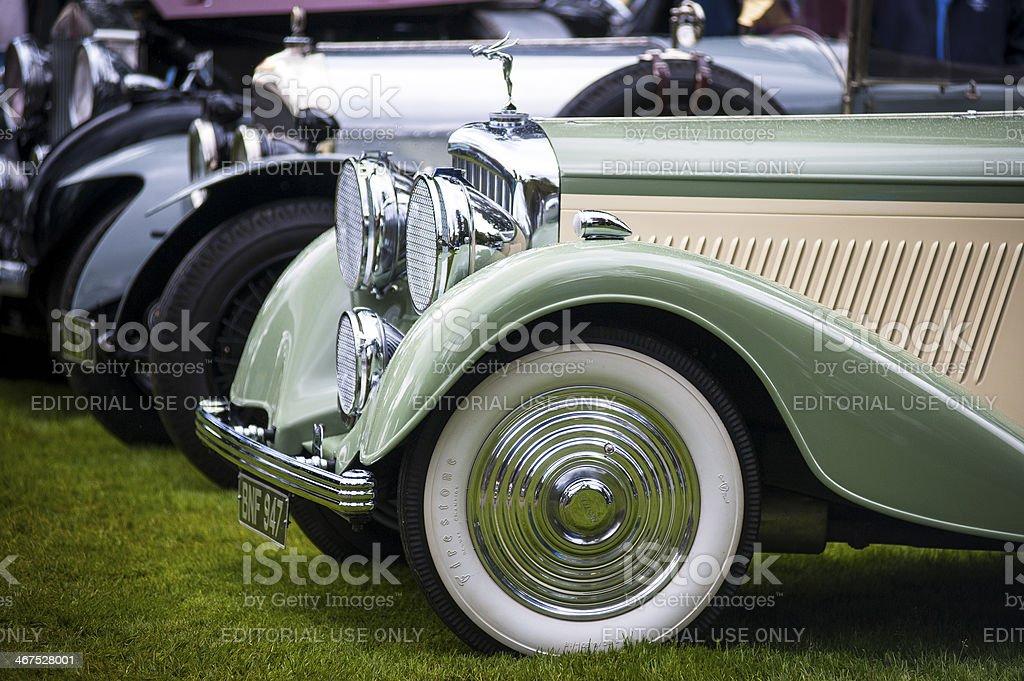 Historic Rolls Royce vehicles on display stock photo