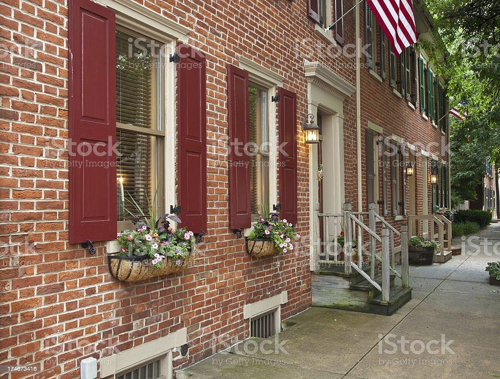 Historic Row Homes stock photo