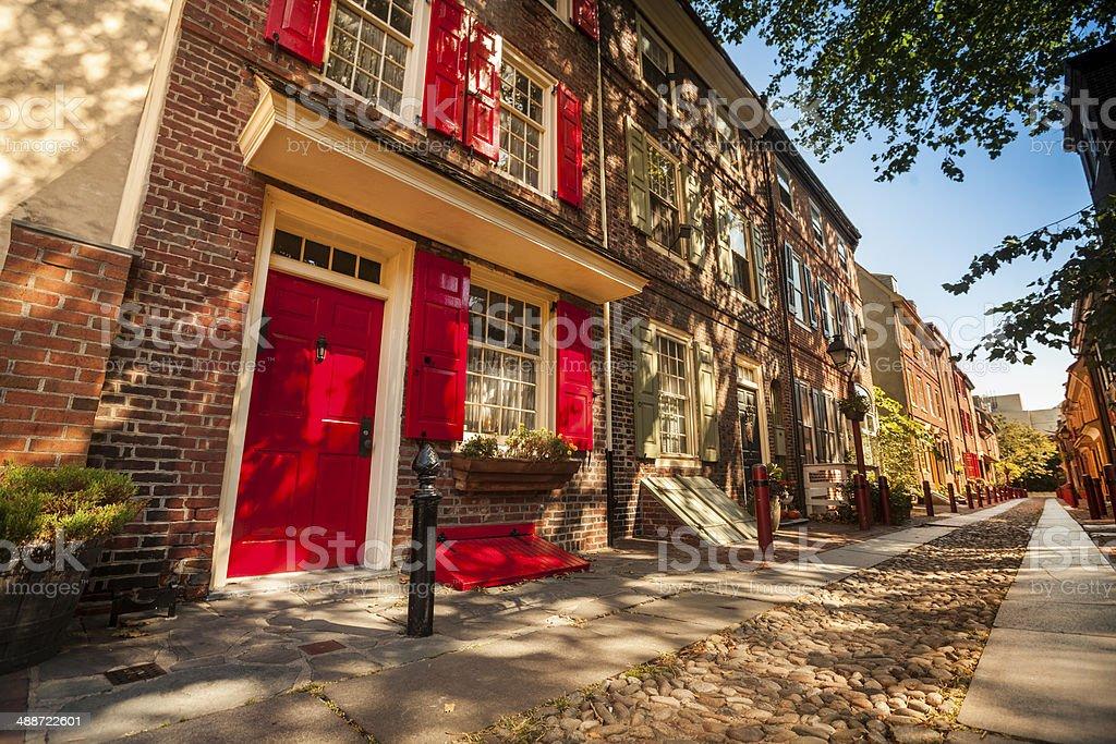 Historic row houses Philadelphia stock photo