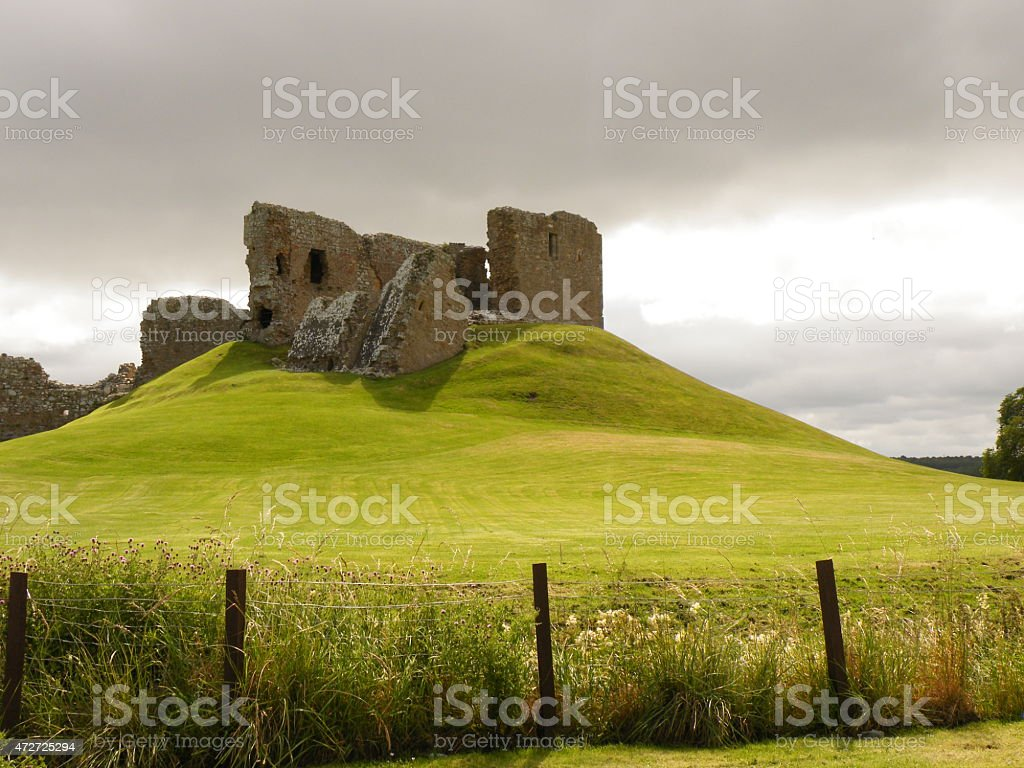 Historic ruin in Scotland stock photo