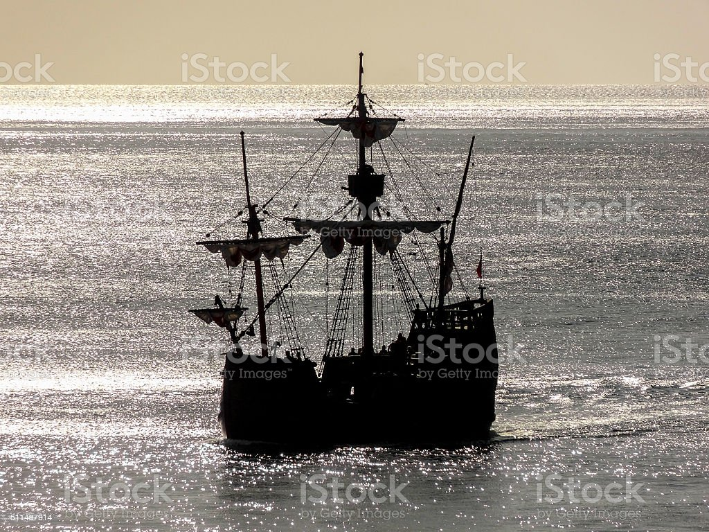 historic sailing ship stock photo