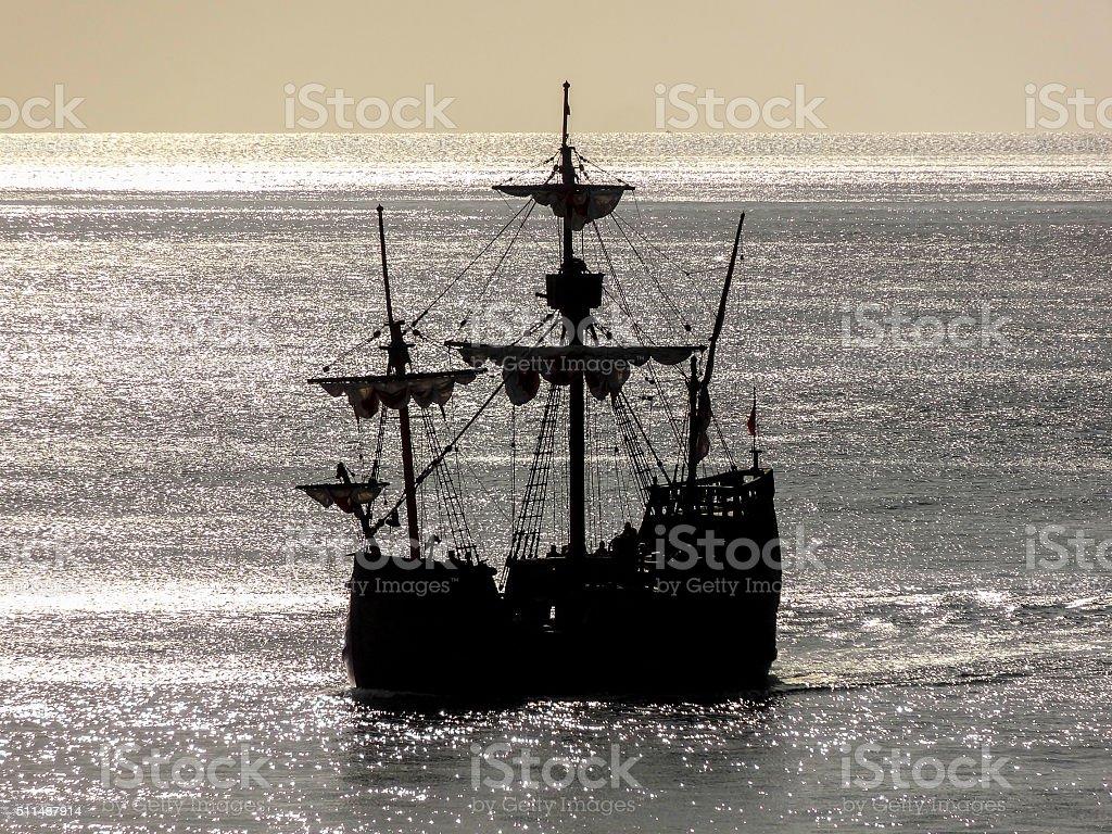 historic sailing ship stock photo