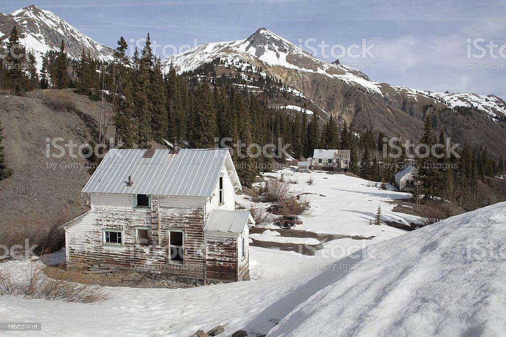 Historic San Juan Mountains mining community Ouray Colorado stock photo