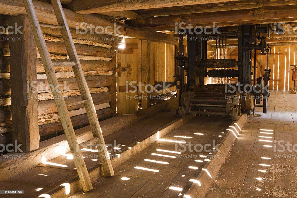 Historic sawmill royalty-free stock photo