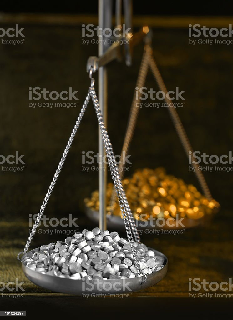 historic scales royalty-free stock photo