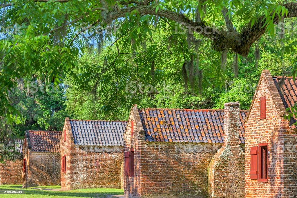 Historic Slave Quarters stock photo
