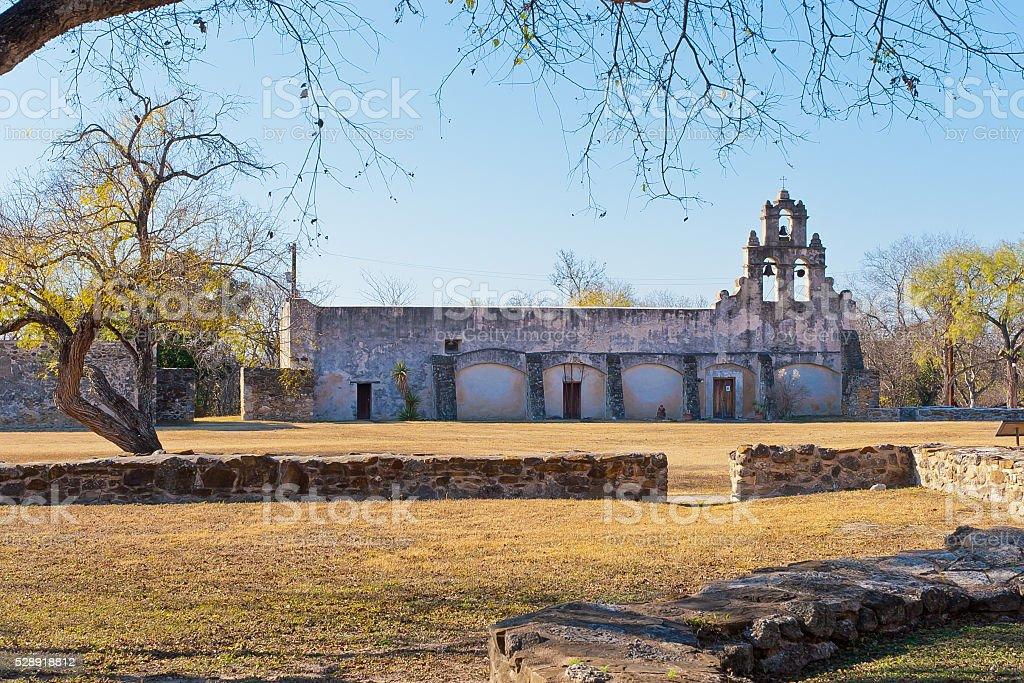 Historic Spanish Mission San Juan Capistrano in  Texas stock photo