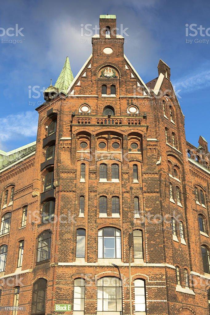 Historic Speicherstadt Hamburg stock photo