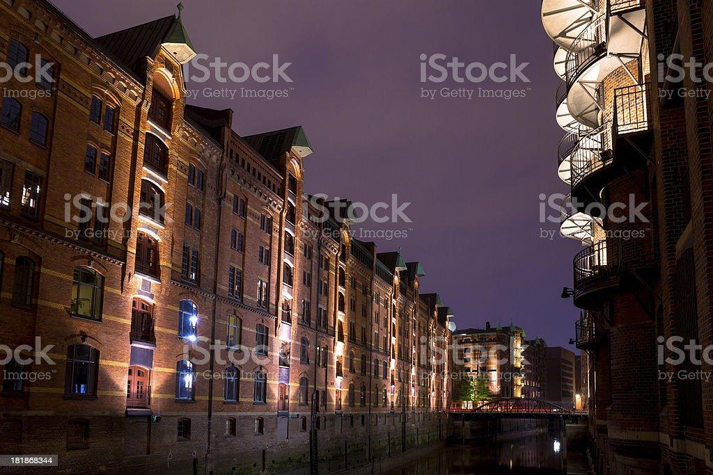 Historic Speicherstadt stock photo