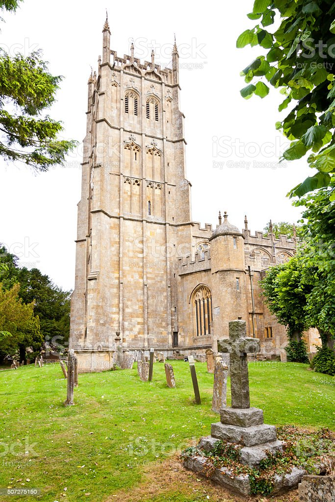 Historic St. James' Church, Chipping Campden, Cotswold, England, United Kingdom. stock photo