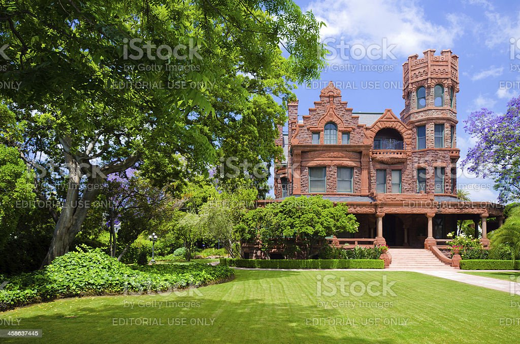 Historic Stimson House in Los Angeles, CA stock photo