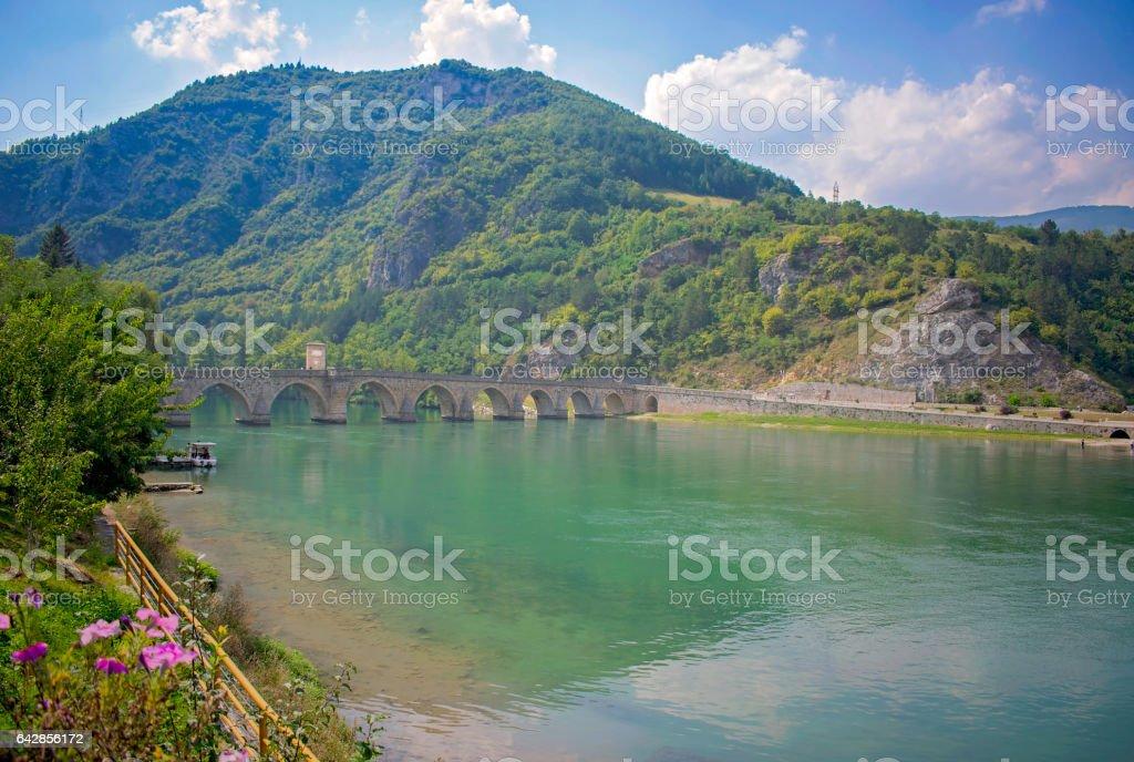 Historic Stone Bridge stock photo