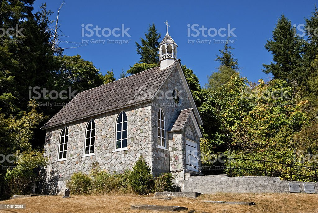 Historic Stone Church stock photo