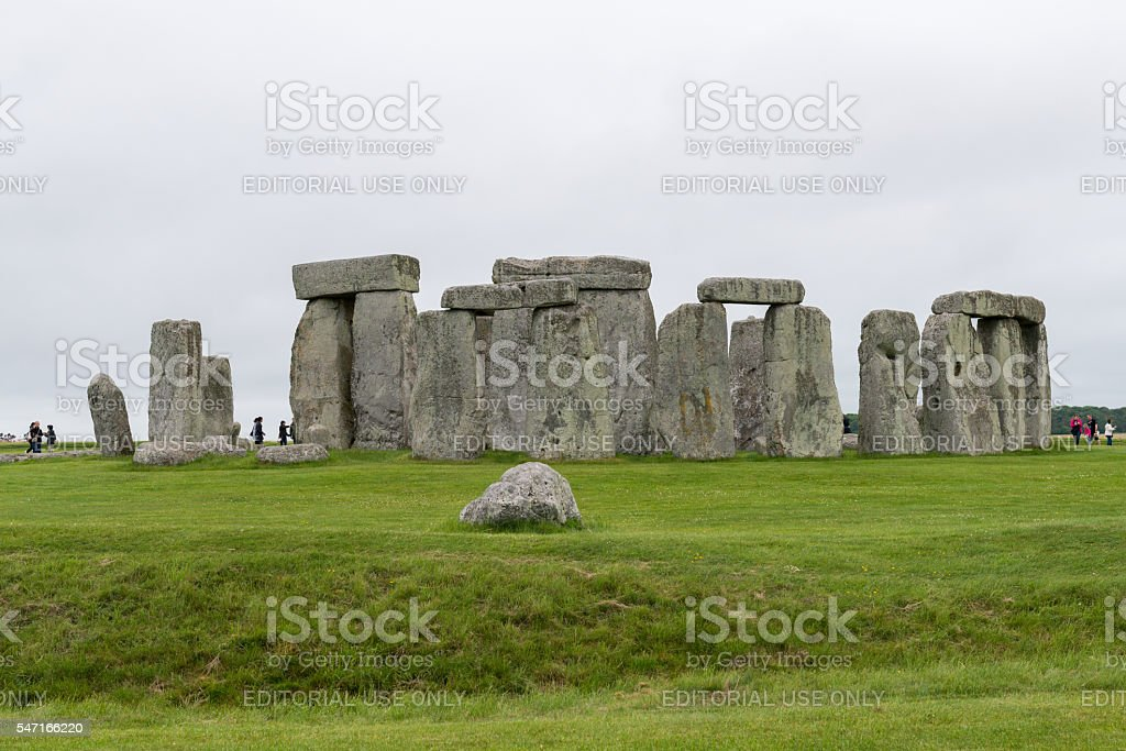 Historic Stonehenge stock photo