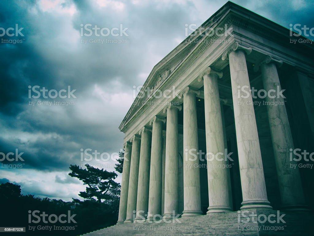 Historic Supreme Court building in Washington DC. stock photo