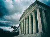 Historic Supreme Court building in Washington DC.