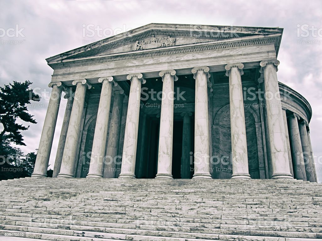 Historic Supreme Court building in Washington DC. stock photo