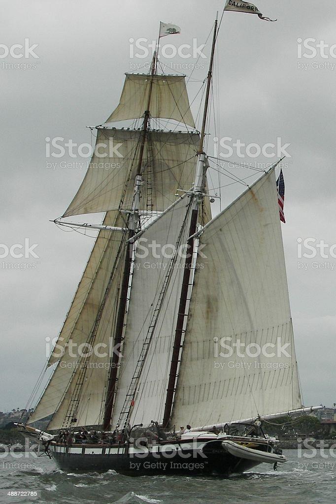 Historic Tall Ship stock photo