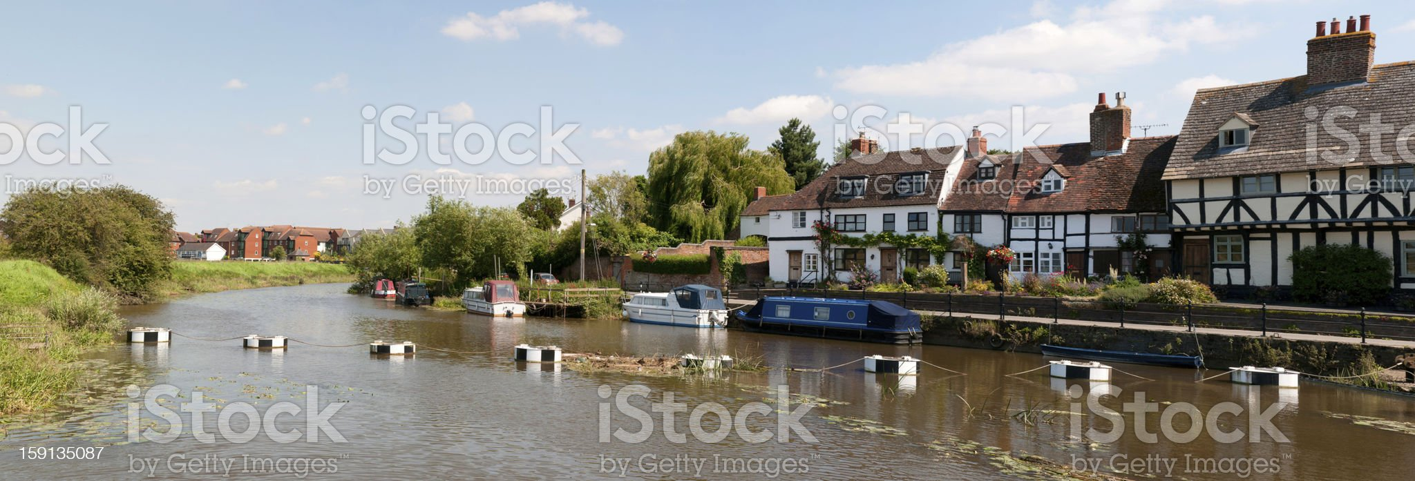 Historic Tewkesbury royalty-free stock photo