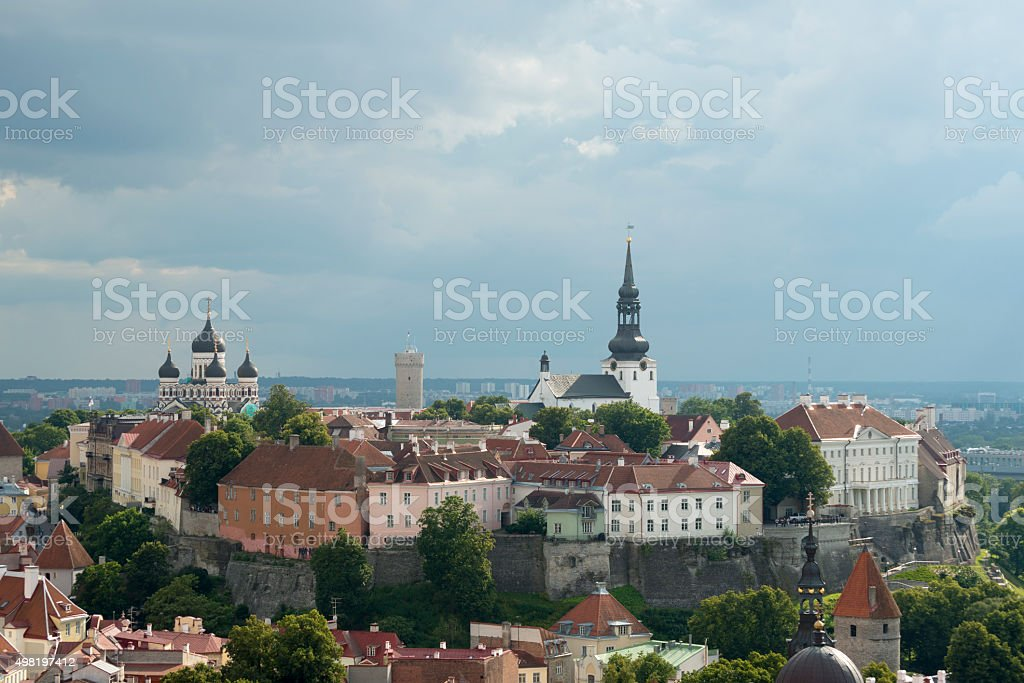 Historic Toompea Hill in Tallinn, Estonia stock photo