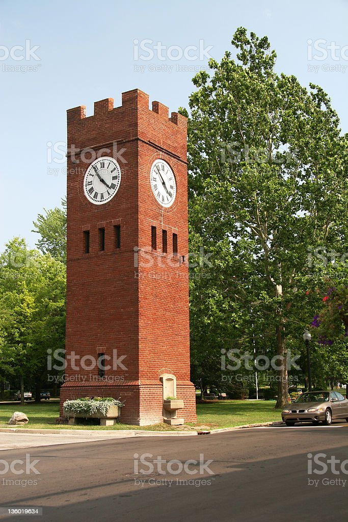 Historic Town Clock stock photo