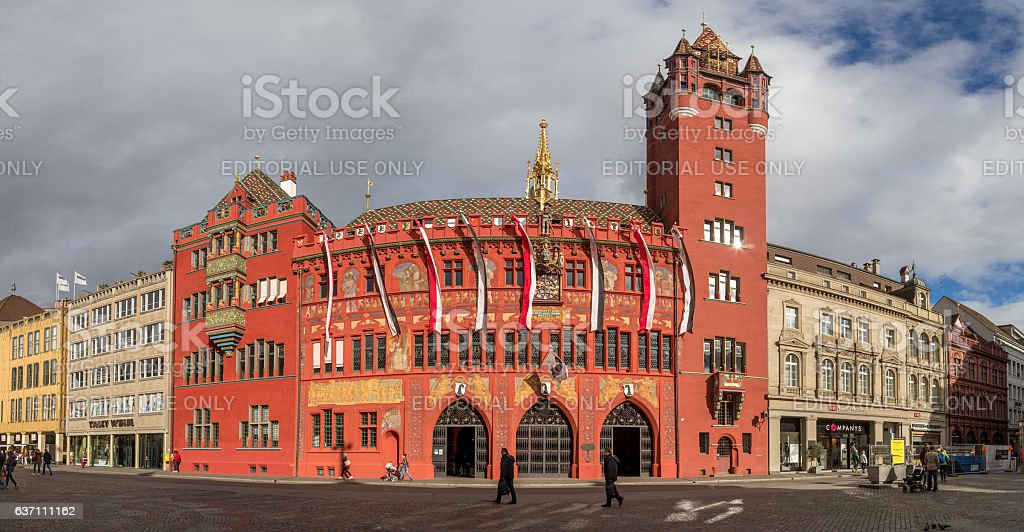 Historic Town Hall in Basel, Switzerland stock photo