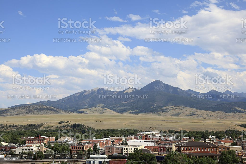 Historic Town Of Livingston Montana stock photo