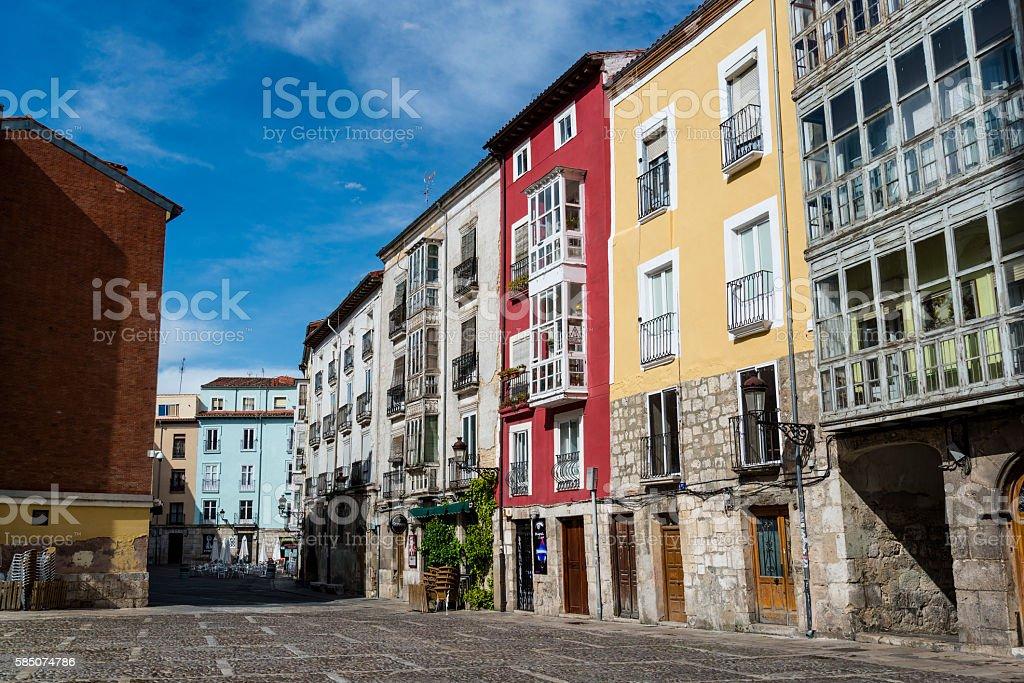 Historic townhouses, Burgos, Castile and Leon, Spain stock photo