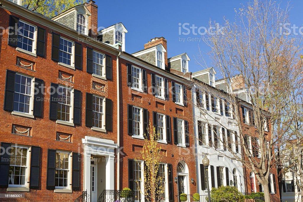 'Historic Townhouses, Washington DC' stock photo