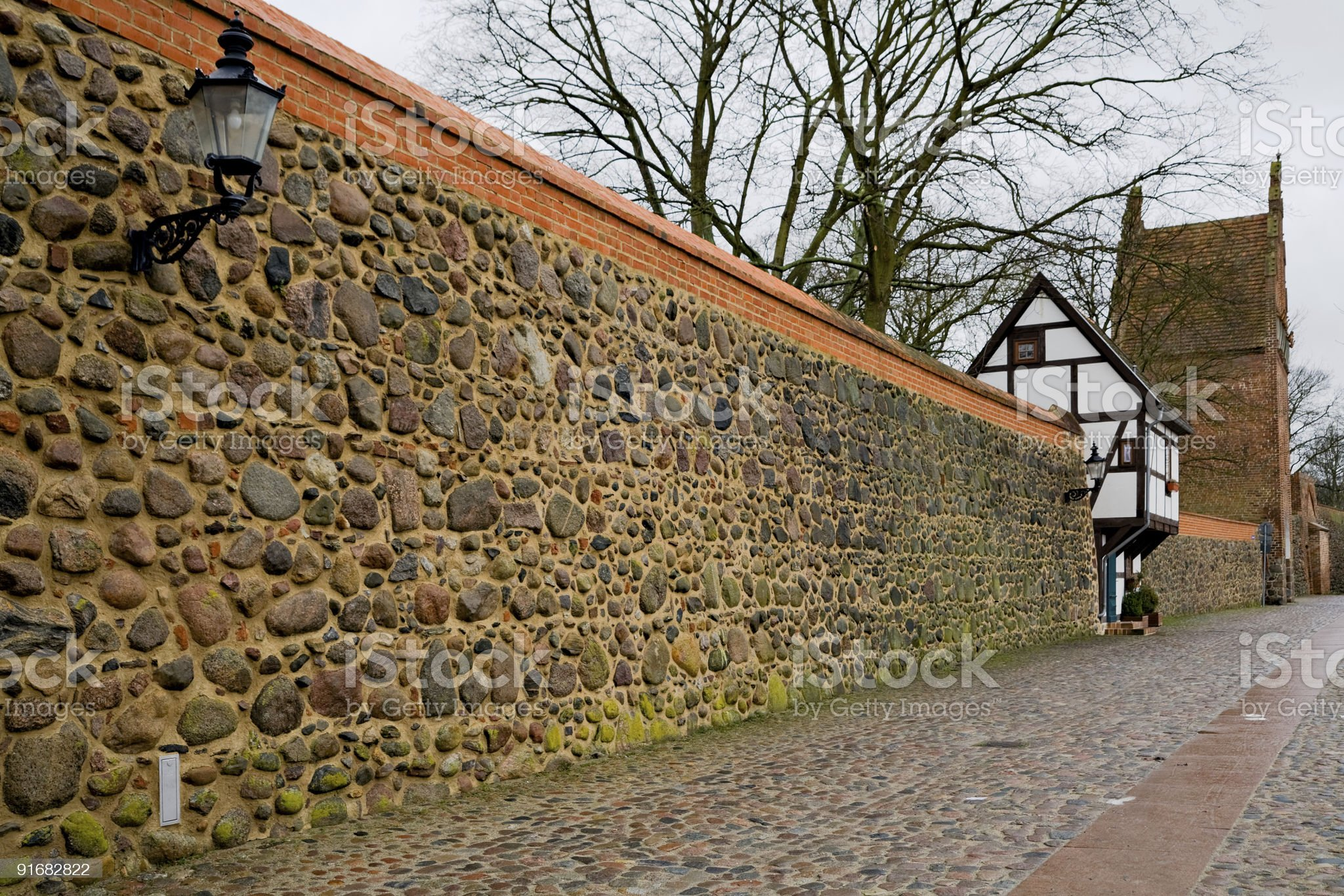 historic townwall in Germany royalty-free stock photo