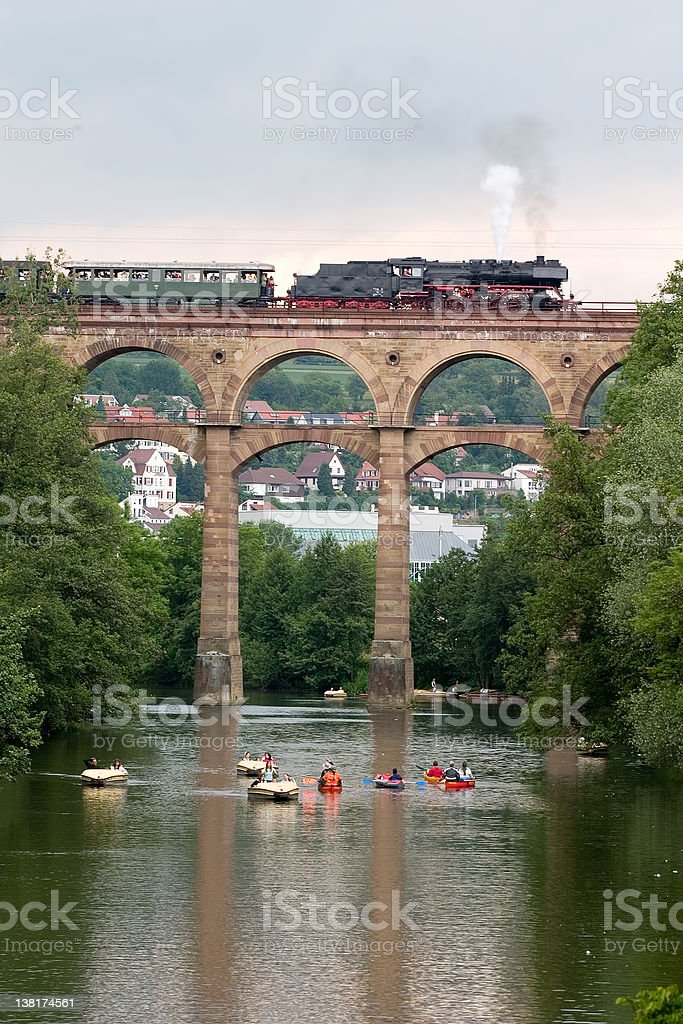historic train 'feuriger Eilas' royalty-free stock photo