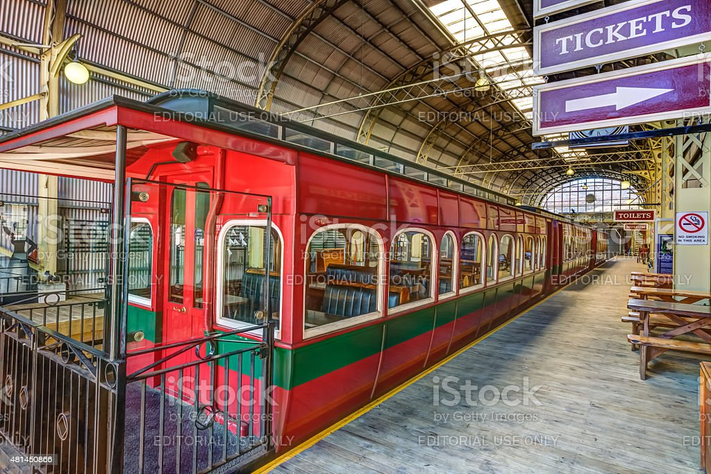 Historic train Strahan stock photo