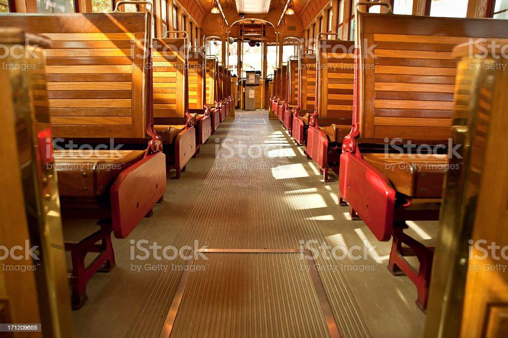 Historic tram car in Tampa Florida royalty-free stock photo