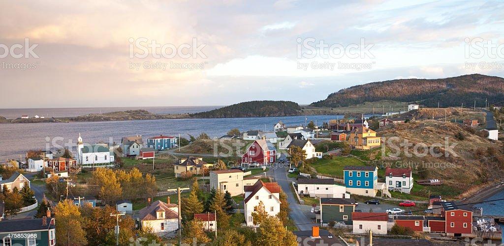 Historic Trinity Fishing Village in Newfoundland Canada stock photo