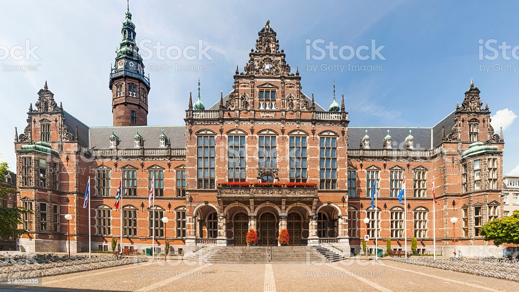 Historic university building stock photo
