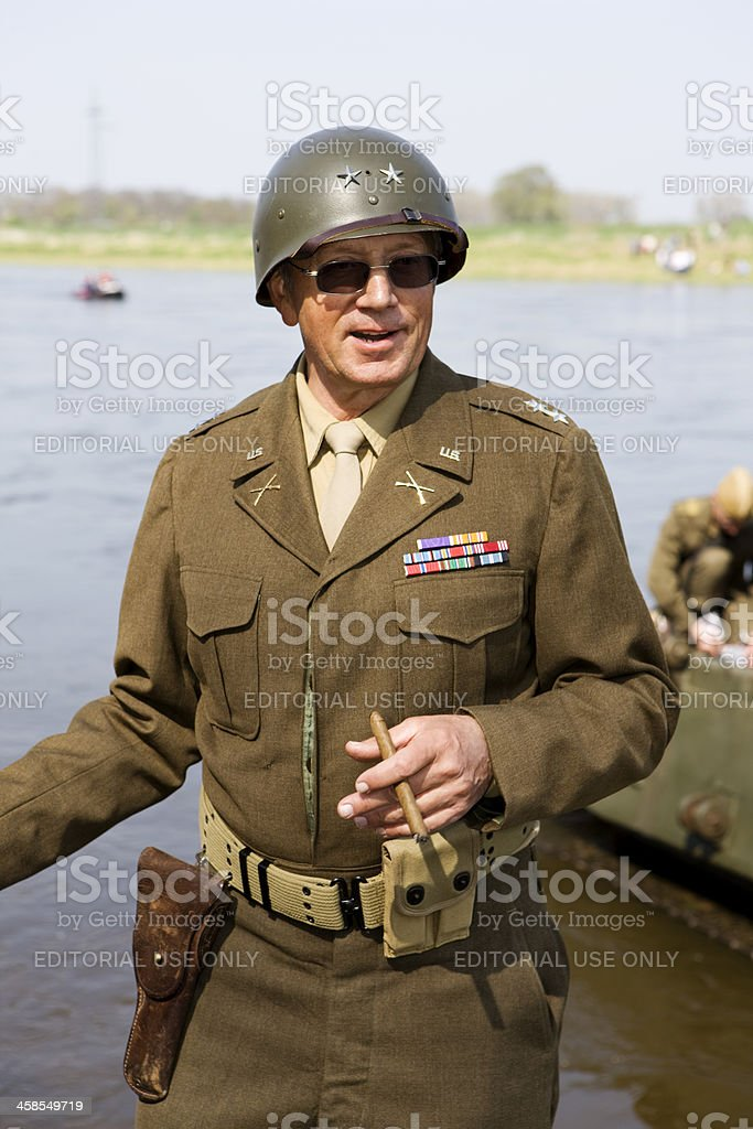 historic US Army officer stock photo
