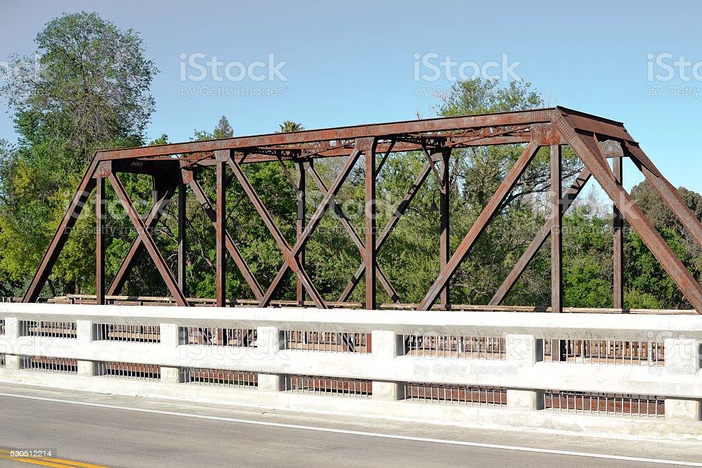 Historic  Vaca Valley Railroad Bridge stock photo