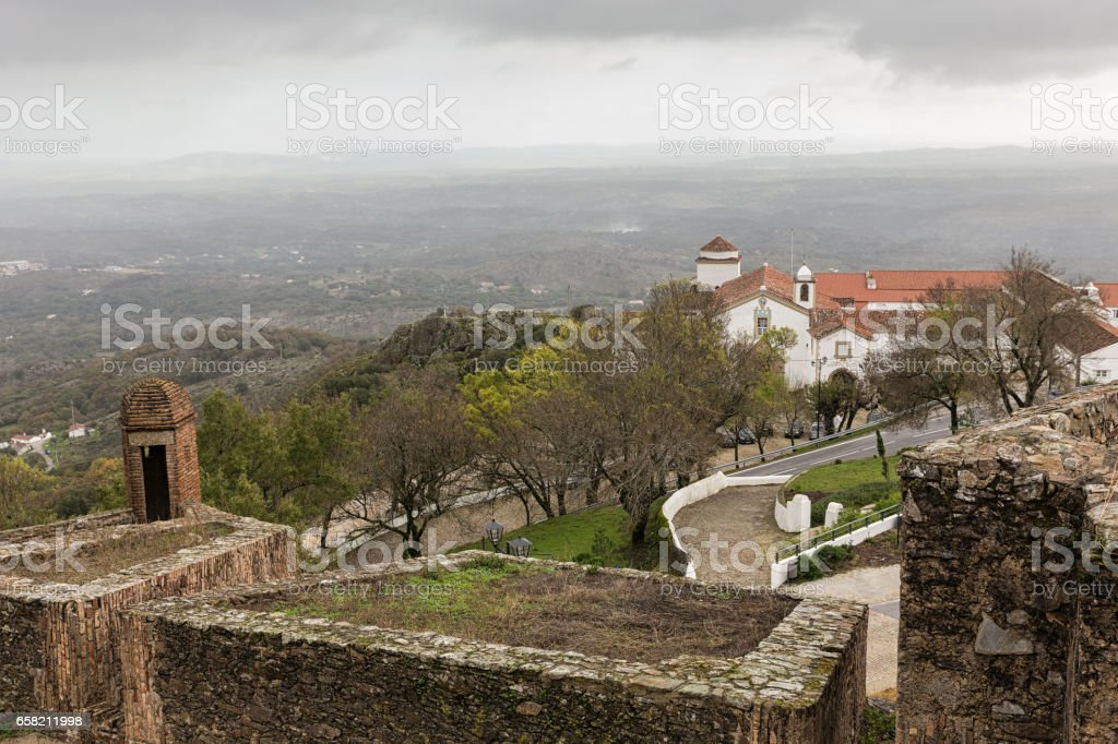 Historic village of Marvao stock photo