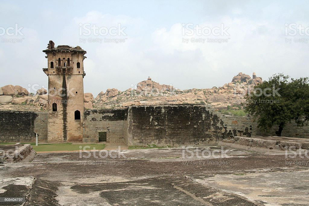 Historic Watch Tower stock photo